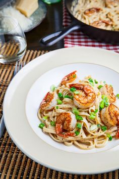 If you like Shrimp Fettuccine Alfredo, you're going to love it with a little kick of Cajun spice. Cajun Shrimp Fettuccine Alfredo is a classical southern dish worth cooking and definitely enjoying. Shrimp Recipes, Fish Recipes, Pasta Recipes, Beef Recipes, Cooking Recipes, Recipies, Dinner Recipes, Cajun Shrimp Fettuccine Alfredo Recipe, Pasta Alfredo
