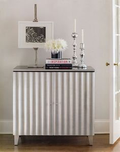 lacquered silver cabinet