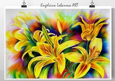 Perfect lilies in bright by FashionableBird on Etsy