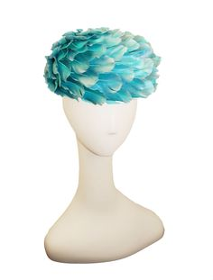 1960s All-Over-Feather Hat by Andre Denis Paris