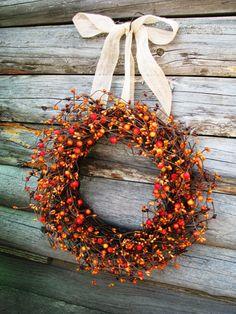 Bittersweet Wreath | Bittersweet. | Autumn
