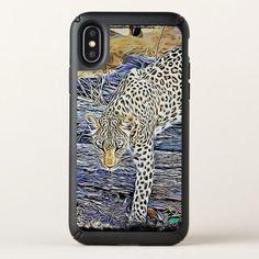 #Leopard Digital Art Cell Phone Case - #cute #gifts #cool #giftideas #custom