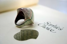 Littlefly Jewellery by Jeremy May: Paper hard pressed and protected into literally anything