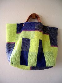 Discover thousands of images about Univers Mininga Sacs Design, Fabric Bags, Knitted Bags, Handmade Bags, My Bags, Purses And Handbags, Hand Weaving, Knitting, Quilt