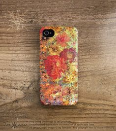 Shabby chic iPhone 4 case - flower iPhone 4s case, floral iPhone 5 case, High quality 3D printing, gift for women, vintage flower (c85) via Etsy