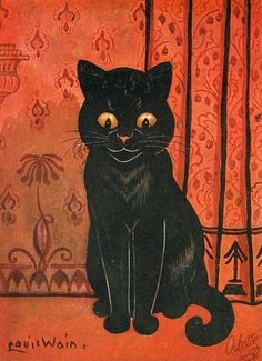 #Victorian #vintage cat #graphic Artist: Louis Wain