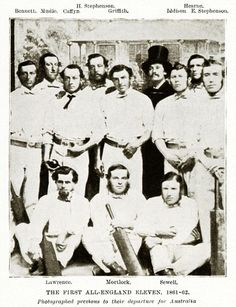 The England Team photographed in 1861