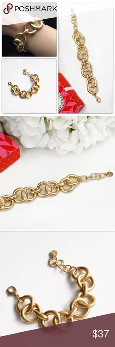 """Stella Dot Jackie Link Gold Bracelets New in box.  A welcomed first guest to any arm party. Lovely layered with the Amelie Sparkle Bracelet in Gold or Peach. Fits SM-LG wrists.  7"""" + 1 .5"""" extender. Lobster clasp closure. Stella & Dot Jewelry Bracelets"""