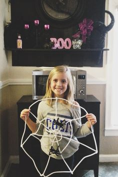 Pipe cleaner spiderweb by Brynn! ;)