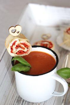 Paprika serano Crêpes zur Suppe
