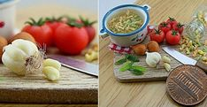 Incredible Sophisticated Miniature Food Made of Clay