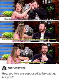 Chris Evans and Elizabeth Olsen lol