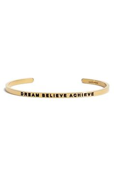 MantraBand® 'Dream Believe Achieve' Cuff available at #Nordstrom