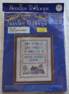 Needle 'N Hoops Stamped Cross Stitch Kit 264 - Home & Alphabet Sampler - 8 x 10  | eBay