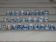 Sutherland Blue and White Thimbles in Collectables, Sewing/ Fabric/ Textiles, Thimbles | eBay / 13 Sep, 2014 / £141.00