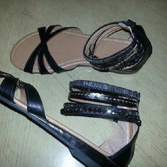 Sandals nwot Nwot runs a bit large.   8 to 8 1/2 Shoes Sandals