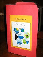 Mini-file folder game about creation that's really cute.