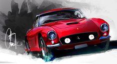 Automotive Art by Chris Yu-Jen Tsai, via Behance