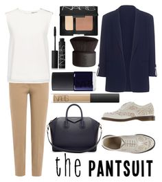 """Untitled #99"" by yulia-bugiera ❤ liked on Polyvore featuring Brunello Cucinelli, Pinko, Dr. Martens, Finders Keepers, Givenchy, NARS Cosmetics and thepantsuit"