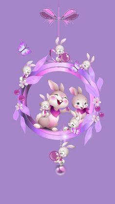 Flower Background Wallpaper, Flower Phone Wallpaper, Cellphone Wallpaper, Easter Bunny Pictures, Bunny Images, Cute Bunny Cartoon, Cute Cartoon Pictures, Ostern Wallpaper, Cute Bear Drawings