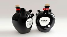 I love it when someone goes against the norm and it works.    blood of grapes wine bottle by constantin bolimond