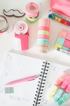 Pastel stationery