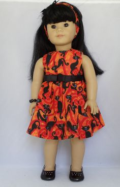 American Girl Doll Black Cats Galore by DollFashionsbyAlthea
