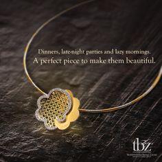 For lighter moments will soon unfold. #LightJewellery #TBZ #Gold #Diamond…