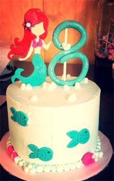 Small mermaid birthday cake