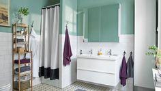 GODMORGON/ODENSVIK Waschbeckenschrank mit 2 Schubladen in Hochglanz weiß