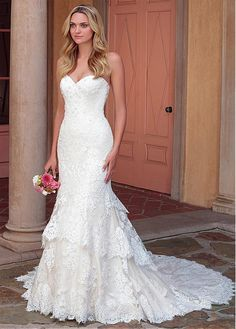 1e36729baf  266.80  Romantic Tulle Sweetheart Neckline Mermaid Wedding Dress With  Beadings   Lace Appliques