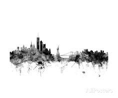 New York Skyline Photographic Print by Michael Tompsett at AllPosters.com