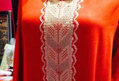 موديلات الكروشي في اللباس التقليدي روعة بأشكال متنوعة