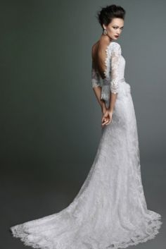 I found lovely bridal collection for you made by Lusan Mandongus. Since 1991 Lusan Mandongus has been designing fabulous bridal gowns - a little Wedding Attire, Wedding Bride, Wedding Gowns, Dream Wedding, Elegant Wedding, Wedding Stuff, Lace Wedding, Designer Wedding Dresses, Bridal Dresses