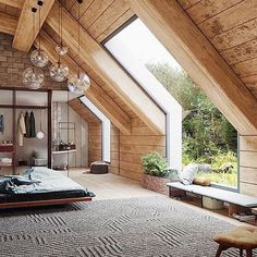 Home Interior Design 19 Dreamy Attic Loft Bedroom Decoration Ideas.Home Interior Design 19 Dreamy Attic Loft Bedroom Decoration Ideas Attic Loft, Bedroom Loft, Attic Master Bedroom, Dream Bedroom, Attic House, Attic Bedrooms, Loft House, Cozy Bedroom, Bedroom With Windows