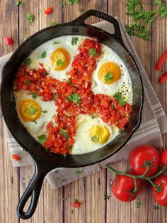 Fried Eggs Italian-Style | YummyAddiction.com