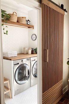 Laundry Room Countertop, Laundry In Bathroom, Ikea Laundry Room, Laundry Room Small, Outdoor Laundry Rooms, Pantry Laundry Room, Organized Laundry Rooms, Outside Laundry Room, Laundry Room Shelving