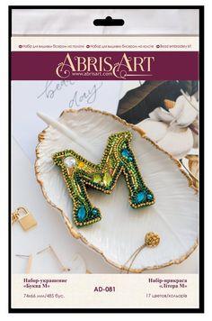 Diy Jewelry Making Kits, Jewelry Kits, Diy Bead Embroidery, Embroidery Kits, Beading Needles, Beaded Brooch, Jewelry Patterns, Bead Crafts, How To Make Beads