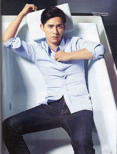 Vic Chou for Bazaar Magazine June Cr: VicWorld on Twitpic Vic Chou, Handsome Asian Men, Kris Wu, Chinese Actress, Asian Boys, Korean Actors, Cute Guys, Male Models, China