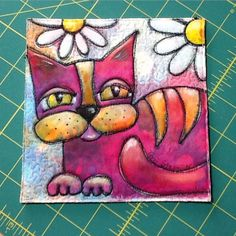 6x6 quilt block by Terri Stegmiller, made for Frances Holliday Alford.