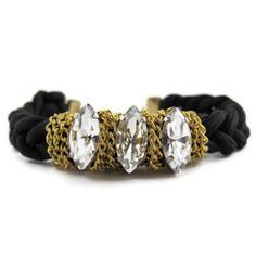 Crystal Gold and Paracord Bracelet