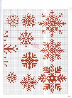 snowflake patterns for cross stitch....nothing beats a little handmade ornament :-)