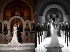 Annunciation Cathedral Greek Orthodox wedding Detroit. I want a picture like her b&w one!