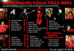 TABLAO VILLA ROSA: FLAMENCO MADRID: FLAMENCO MADRID: ARTISTAS EN VILLA ROSA DEL 6 AL 1...