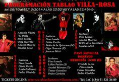 TABLAO VILLA ROSA: FLAMENCO MADRID: FLAMENCO MADRID: ARTISTAS EN VILLA ROSA DEL 6 AL 1...