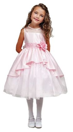 flowergirl dress? Amazon.com: Girls KID Collection Extraordinary New Illusion Tapered Flower Girl Dress: Clothing