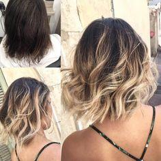 Belage Hair, Hair Day, Hair Color Balayage, Hair Highlights, Haircolor, Short Hombre Hair, Pelo Bob Ondulado, New Hair 2018, Medium Hair Styles