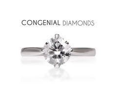 A beautiful diamond solitaire engagement ring with a twist