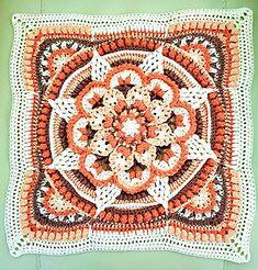 Transcendent Crochet a Solid Granny Square Ideas. Inconceivable Crochet a Solid Granny Square Ideas. Crochet Mandala Pattern, Granny Square Crochet Pattern, Crochet Stitches Patterns, Crochet Squares, Crochet Granny, Granny Squares, Crochet Bedspread, Crochet Quilt, Crochet Blocks