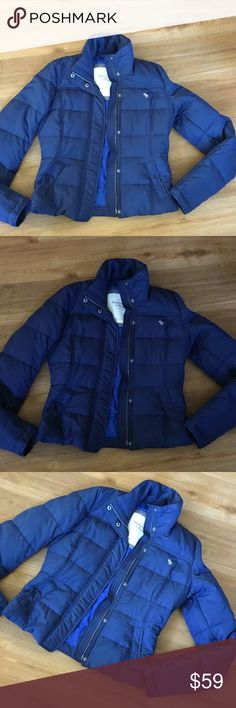 Abercrombie & Fitch feather down jacket blue m Abercrombie & Fitch jacket in excellent preowned condition size m Abercrombie & Fitch Jackets & Coats